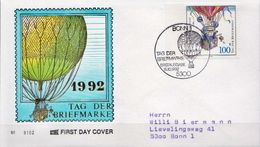 Germany Stamp On Used FDC From 1992 - Stamp's Day