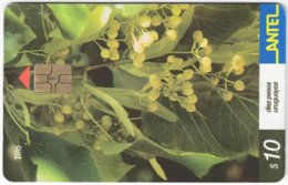URUGUAY A-377 Chip Antel - Plant, Flower - Used - Uruguay