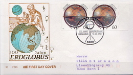 Germany Stamp On Used FDC From 1992 - Astronomy