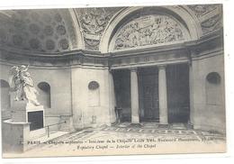 PARIS . CHAPELLE EXPIATOIRE . Interieur De La Chapelle Louis Xvi Boulevard Haussmann 73BIS . CARTE NON ECRITE - France