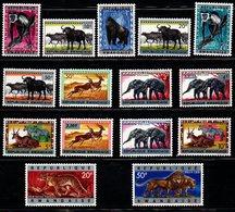 S108.-. RWANDA. 1964. SC#: 55-69 - MNH - ANIMALS - 1962-69: Mint/hinged