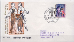 Germany Stamp On Used FDC From 1992 - Theatre