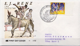 Germany Stamp On Used FDC From 1992 - Circus
