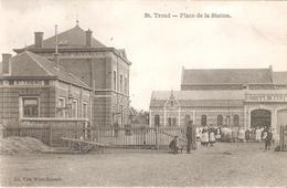 SINT-TRUIDEN - Place De La Station - Baltus En Geanimeerd - 1910 - Sint-Truiden