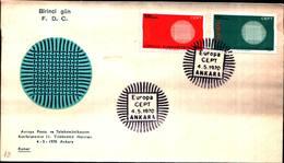 12793a)F.D.C.SERIE COMPLETA  Turkia 4-5-70 - 1921-... República