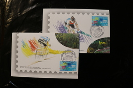 France 2158 World Cycling Championship Two Diff Cards Day Of Issue Cancels 1989 A04s - FDC