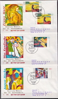 Germany Set On 3 Used FDCs From 1992 - Art