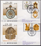 Germany Set On 2 Used FDCs From 1992 - Art