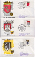 Germany Set On 6 Used FDCs From 1992 - Covers