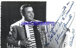 117311 ARGENTINA ARTIST FELICIANO BRUNELLI MUSICO PIANISTA ACORDEON TANGO AUTOGRAPH PHOTO NO POSTAL POSTCARD - Argentine