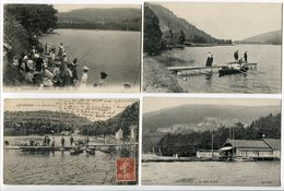 LOT 8 CP GERARDMER Le LAC Pêcheurs Au Bord Le Bout (ponton Barque) Port Bains Pont Et Xettes Belle Saison Coucher Soleil - Gerardmer