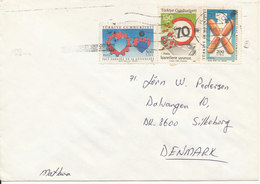Turkey Cover Sent To Denmark 12-9-1990 Topic Stamps - 1921-... Republic