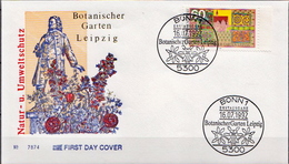 Germany Stamp On FDC - Végétaux