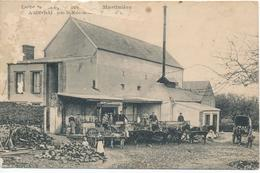 CPA BLAINVILLE-sur-MER (50.Manche) Laiterie Coopérative De La Martinière - Animée - Blainville Sur Mer