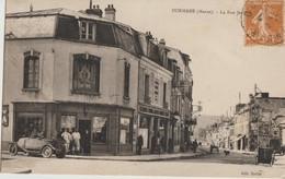 Dormans  51   La Rue Jeanne  Bien Animée Devant Quincaillerie Et Mercerie Et Café - Dormans