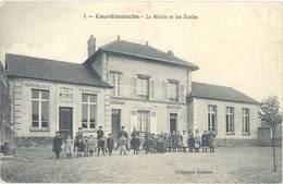 COURDIMANCHE - La Mairie Et Les Ecoles   (1019 ASO) - France