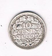 10 CENT  1939  NEDERLAND /7064// - [ 3] 1815-… : Kingdom Of The Netherlands