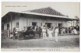 Cpa  Bon Etat  Côte D'ivoire  A.O.F.   Agnibilécro ,  La S.C.O.A., Belle Animation , Belle Voiture - Côte-d'Ivoire