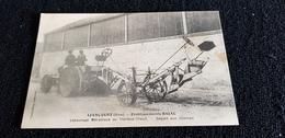 Cp 60 Oise LIANCOURT Etb BAJAC Labourage Mécanique Au Tracteur Treuil Départ Aux Champs - Liancourt