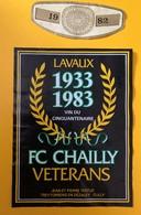 11305 - FC Chailly Vétérans 1933 - 1983 Suisse - Soccer