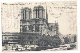 PARIS .9. NOTRE-DAME . VUE D'ENSEMBLE . JOLI AFFR AU VERSO . 2 SCANES - France