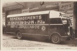 Brive  19   Maison  TAURISSON  Transports-Demenagements ( Un Camion Capitonné ) - Brive La Gaillarde