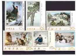 XX2212   -  COREA DEL NORD   /   SERIE COMPLETA USATA,  MICHEL  1392/1396 - Corea Del Nord