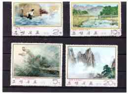 XX2504   -  COREA DEL NORD   /   SERIE COMPLETA USATA,  MICHEL  1291/1294 - Corea Del Nord