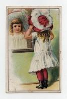 CHROMO Maison Cureau Nogent Le Rotrou Birgé Enfant Fille Fillette Chapeau Glace Miroir - Chromos