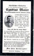 Sterbebildchen - Egidius Maier - Bergbauernsohn In St. Johann In Tirol Gest. 20.Okt 1916 - Andachtsbilder