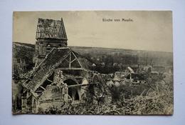 60 - WW1 - Carte Allemande MOULIN-SOUS-TOUVENT - Kirche Von MOULIN - Andere Gemeenten