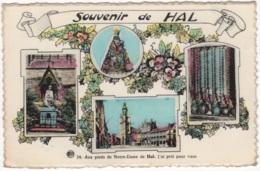 CP-JEN: Hal Souvenir Aux Pieds De Notre-Dame. - Halle