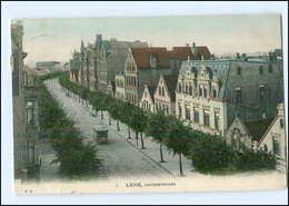 XX005380/ Lehe Hafenstraße Straßenbahn  Bremerhaven AK 1906 - Allemagne