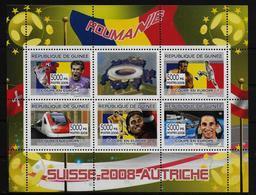 GUINEE   Feuillet N° 3347/51 * * ( Cote 9e ) Euro 2008 Football  Soccer  Fussball Trains  Franz Viehbock Espace Roumanie - Europei Di Calcio (UEFA)