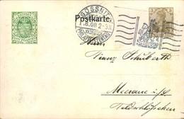 """1908,Privatganzsache 3 Pfg. Germania """"XX. DEUTSCHER PHILATELISTENTAG"""", SSt GÖSSNITZ - PP 23 C 9 - Ganzsachen"""