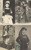 9604 Lot De 20 CPA Costumes Et Folklore Bretons ( Bretagne ) - Costumes