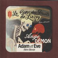 Sous  Bock De Bière - ANGE DEMON . ADAM Et EVE - La Bière Artisanale Des Hauts De LIEZEY . Vosges - La Ferme De Liézey - Beer Mats