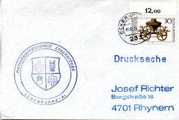 "(FC-3) BRD Cachet-Umschlag Marine ""MARINEWAFFENSCHULE ECKERNFÖRDE"" EF BRD Mi 897 TSt 15.10.1976 ECKERFÖRDE - BRD"