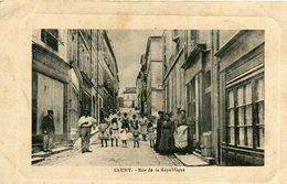 CLUNY - Rue De La République Riverains Regroupés Ecrit De Lournand - Cluny