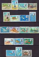 British Indian Ocean Territory 1968-70 SG #16-30 Compl.set Used Marine Life - British Indian Ocean Territory (BIOT)