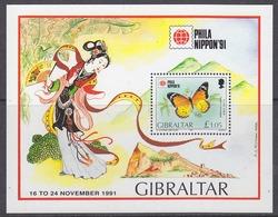 Gibraltar 1991 Philanippon/Butterflies M/s ** Mnh (44065) - Gibraltar