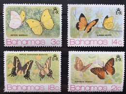 Timbres Stamps Bahamas YT 358-361 (**) MNH 1975 Papillons Butterfly (côte 5,75 Euros) – 224 - Bahamas (1973-...)