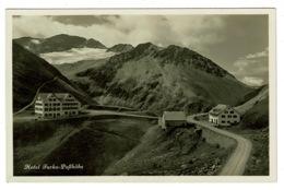 Ref 1313 - Real Photo Postcard - Hotel Furka-Passhohe - Uri Switzerland - Cachet - UR Uri