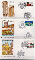 Germany 3 FDCs From 1994 - Architecture
