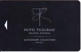 ESTONIA KEY HOTEL  Hotel Telegraaf - Tallinn - Cartes D'hotel