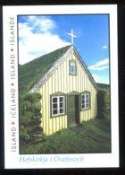 CPM Neuve ISLANDE ISLAND ICELAND Hofskirkja Une Ancienne église Construite De Tourbe Et De Pierres - Islande