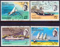 British Indian Ocean Territory 1969 SG #32-35 Compl.set Used Ships Of The Islands - British Indian Ocean Territory (BIOT)