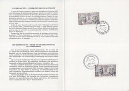 Emission Conjointe N°2501 Et 1183 Traité Sur La Coopération Franco Allemande De Gaulle Adenauer Encart 1er Jour 14.1.88 - Storia Postale