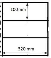 10 Pochettes GF - 3 Cases / 10 GF Mappen - 3 Vakken - Ander Materiaal