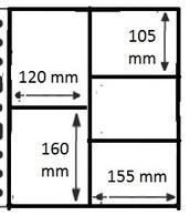 10 Pochettes GF - 5 Cases / 10 GF Mappen - 5 Vakken - Altro Materiale